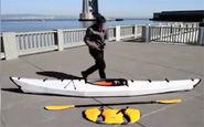قایق جالبی که قابل حمل است و فقط 14 کیلوگرم وزن دارد! + فیلم
