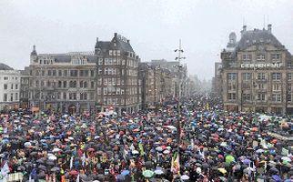 رسیدن تظاهرات ضد نژادپرستی به هلند + فیلم