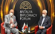 دیدار ظریف با وزرای خارجه لهستان و ترکیه در آنتالیا