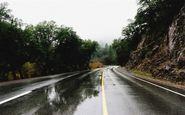 بارش در محورهای مواصلاتی ۳ استان