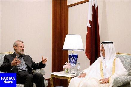 لاریجانی در دیدار همتای قطری: مواضع ایران و قطر به یکدیگر بسیار نزدیک است