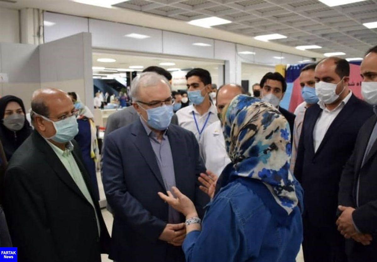 وزیر بهداشت از تسریع واکسیناسیون کرونا در تهران خبر داد