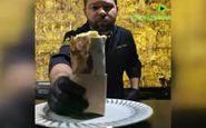 ساندویچ شاورمای با روکش طلا خبرساز شد