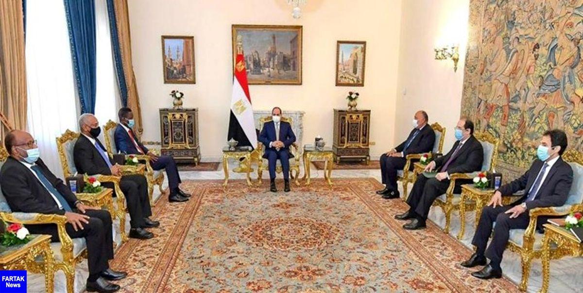 رئیس جمهور مصر بر موضع کشورش در حمایت از سودان در برابر اتیوپی تأکید کرد