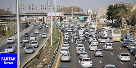 محور هراز دوطرفه شد/ ترافیک سنگین و پرحجم در ورودی شهر تهران