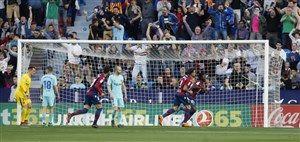 لوانته 5-4 بارسلونا: پایان شکست ناپذیری