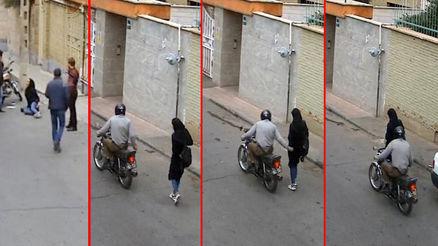 زنم طلاق گرفت و من شروع به انتقام از دختران مانتو پوش کردم + عکس لحظه حمله به یک دختر تهرانی