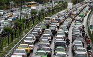 ترافیک پر حجم بزرگراههای تهران در صبح دوشنبه