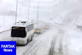 برف و باران در محورهای سه استان