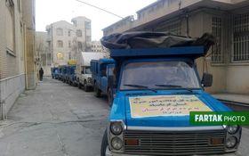 ارسال 30 تن مواد غذایی و بهداشتی به روستاهای سیل زده شهرستان دلفان از توابع استان لرستان به روایت تصویر