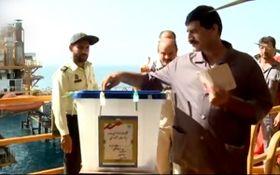 رایگیری روی سکوهای نفتی عسلویه + فیلم