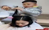 آیا حاضرید موهای خود را به دستان این آرایشگر کوچک بسپارید؟ +فیلم