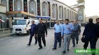 بازدید میدانی مهندس یزدانی از محل اسکان نیروهای شهرداری در کربلا+تصاویر