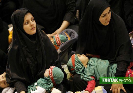 اختصاصی/ تصاویری دیدنی از تجمع بزرگ شیرخوارگان حسینی در مصلی امام خمینی تهران