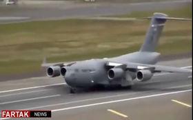 فیلمی از لحظه سقوط هواپیما