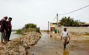شرایط سیلاب اروندکنار تحت کنترل است/ترمیم بندهای خاکی در روستاها