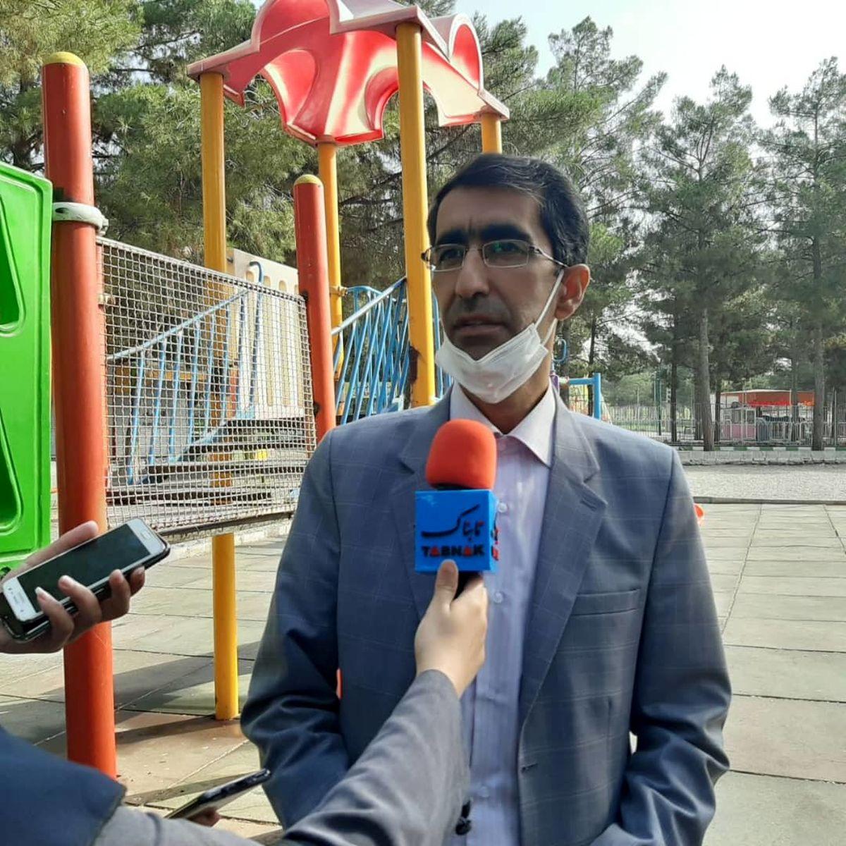 عملیات پاکسازی و ضدعفونی ۲۳۶ پارک در کرمانشاه