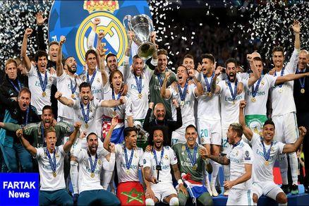 رئال مادرید، صدرنشین فهرست ارزشمندترین باشگاه های جهان