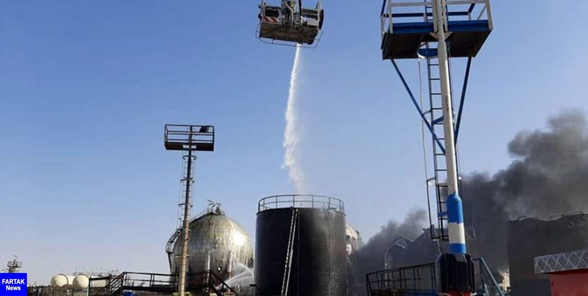 آتش در پالایشگاه تهران مهار شد