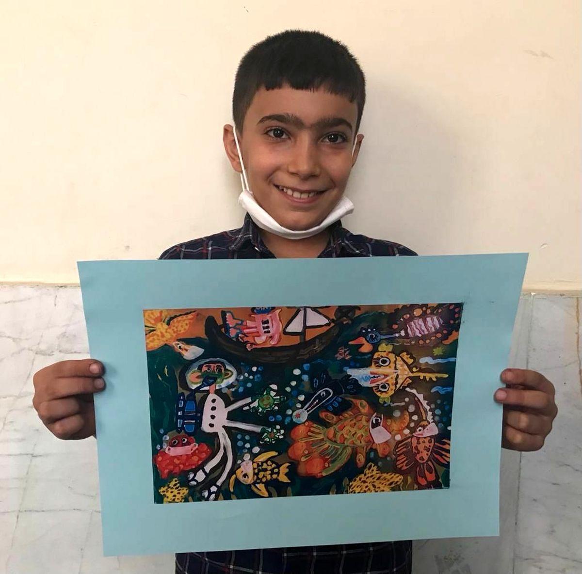 دو عضو کانون استان کرمانشاه، رتبه اول نقاشی یونیسف را کسب کردند