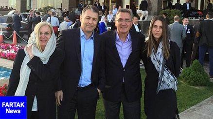 دختر برانکو ایوانکوویچ در استادیوم آزادی حاضر شد + عکس