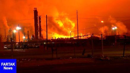 آتشسوزی در پنجمین پالایشگاه بزرگ آمریکا