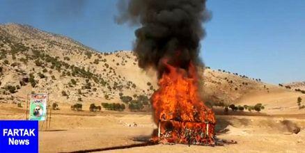 بیش از 500 کیلو مواد مخدر در کرمانشاه امحاء شد