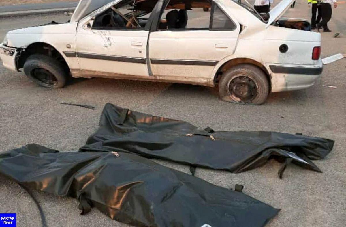 ۲ نفر بر اثر واژگونی خودرو در استان سمنان جان باختند