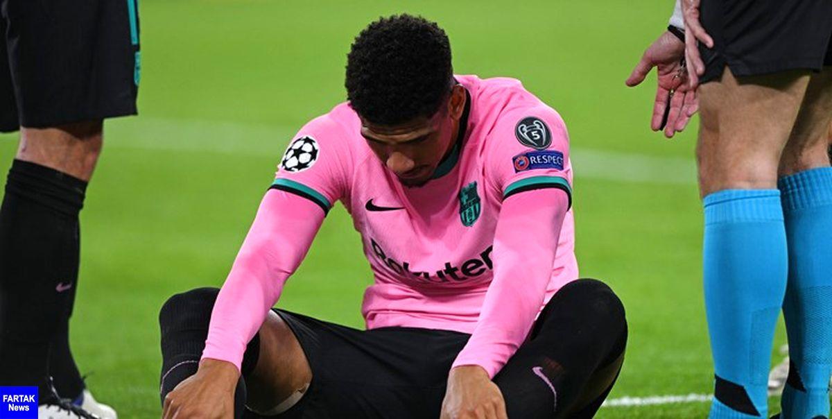 مدافع بارسلونا 3 هفته دور از میادین