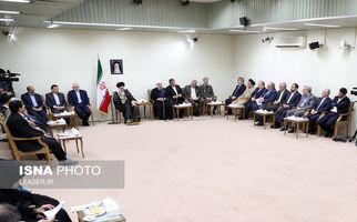 گزارش تصویری / دیدار رئیسجمهور و اعضای هیئت دولت با مقام معظم رهبری