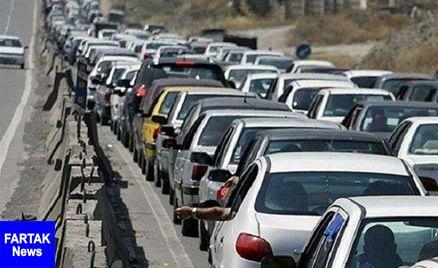 ترافیک پرحجم در مبادی ورودی و خروجی تهران / باران و مهگرفتگی در اردبیل