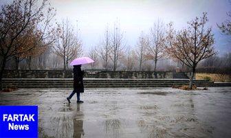 بارش باران در محورهای 12 استان کشور