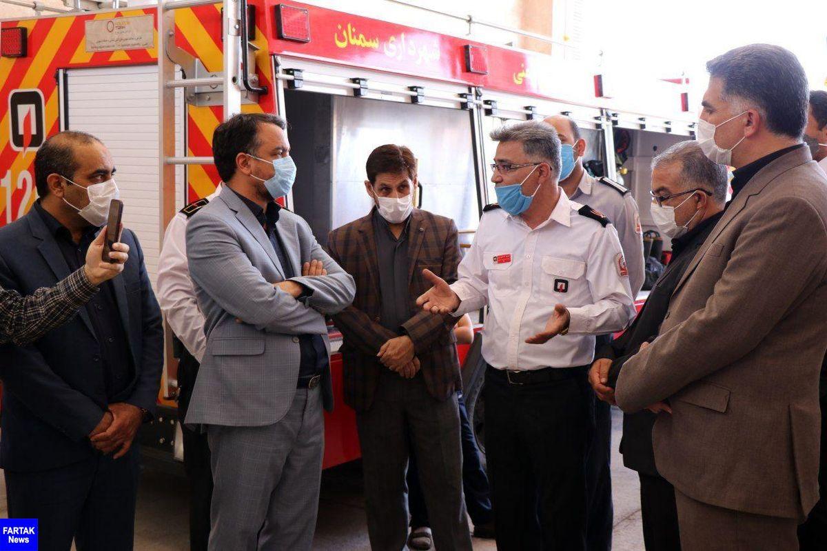 ششمین ایستگاه منطقه ای آتش نشانی سمنان افتتاح شد