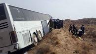 ۳۹ مصدوم و  ۳ فوتی بر اثر انحراف و واژگونی اتوبوس در محور هراز