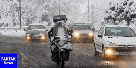 وقوع برف و کولاک در ۱۷ استان کشور