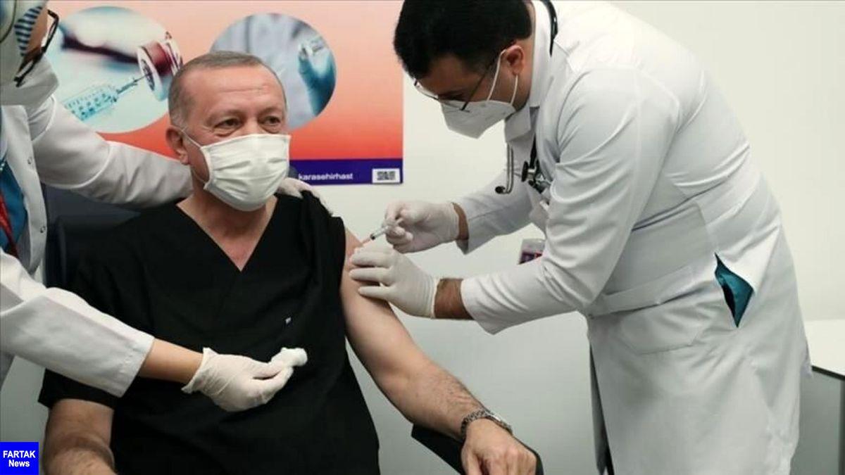 اردوغان با واکسن سینوواک چینی واکسینه شد