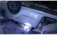 مرگ زوج جوان در واژگونی خودرو