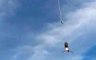 لحظه وحشتناک سقوط مرد پرنده از ارتفاع زیاد!