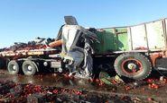 یک کشته و دو مصدوم در تصادف زنجیرهای محور آباده به شهرضا