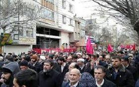 خروش مردم انقلابی رشت در دفاع از مردم نظام و رهبری + فیلم