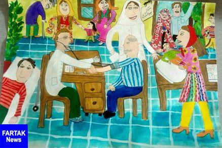 رتبه اول مسابقه نقاشی سال 2019 سازمان جهانی بهداشت به عضو هنرمند کانون استان کرمانشاه رسید