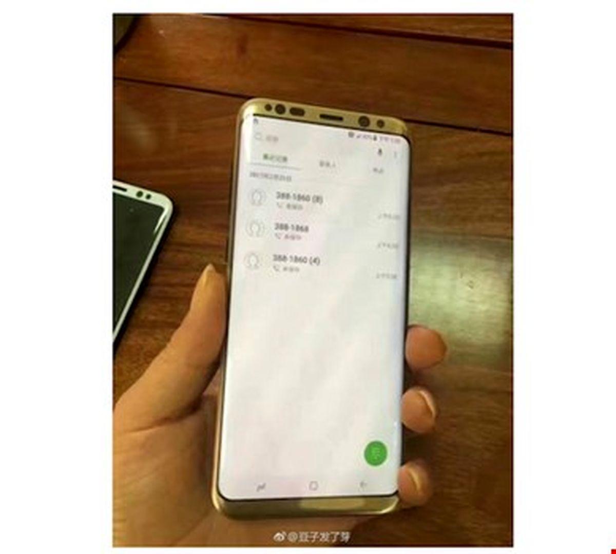 انتشار تصویر احتمالی گلکسی S8 Plus طلایی رنگ