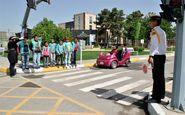رئیس پلیس راهور کرمانشاه خبر داد: آموزش عملی فرهنگ ترافیک به کودکان در پارک ترافیک کرمانشاه