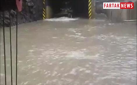 جاده چالوس زیر آب رفت+فیلم