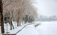 بارش برف در ۱۴ محورهای مواصلاتی استان اصفهان