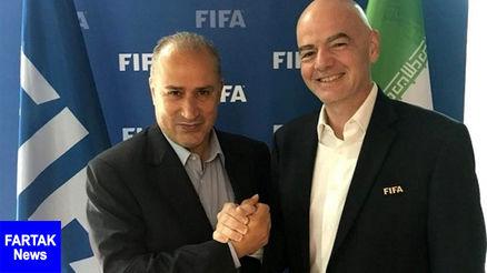 اطمینان رئیس فدراسیون فیفا از حضور بانوان