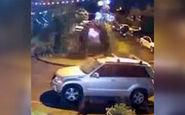 پرتاب هندوانه روی سقف خودرو در روسیه!
