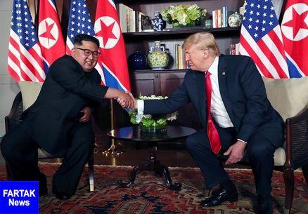 اوج استرس ترامپ و رهبر کره شمالی مقابل دوربینها