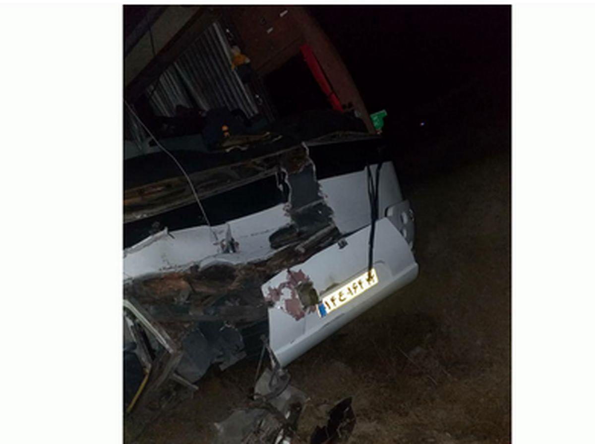 تصادف مرگبار اتوبوس مسافربری با تراکتور+جزئیات