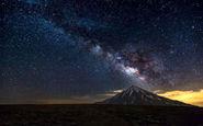 ویدئویی تماشایی از عبور کهکشان راه شیری بر فراز کوه دماوند